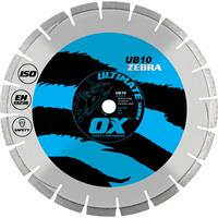 OX Ultimate UB10 Segmented Diamond Blade - Abrasive