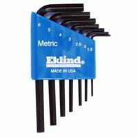 Eklind Hex Key Set - Short - Metric